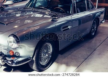 vintage transport retro car. - stock photo