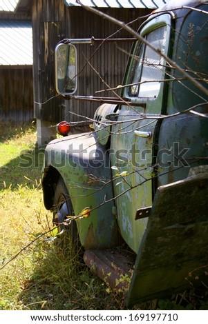 Vintage truck. - stock photo