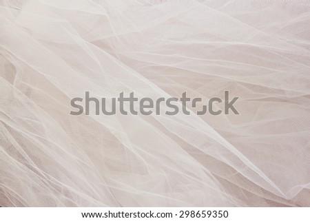 Vintage tulle chiffon texture background. wedding concept  - stock photo