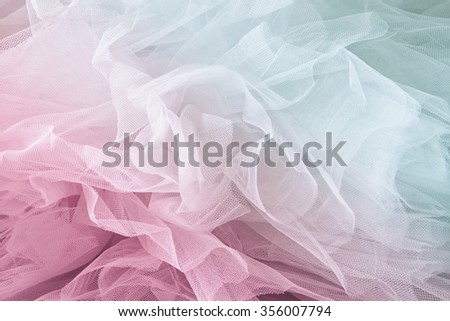 Vintage tulle chiffon texture background. wedding concept. vintage filtered and toned image  - stock photo