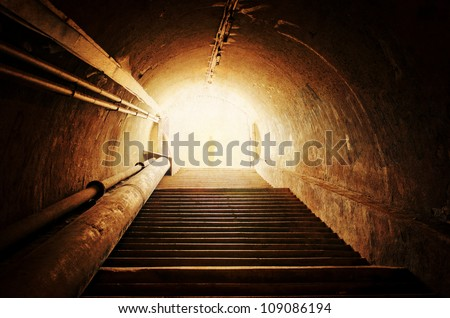 vintage tunnel - stock photo