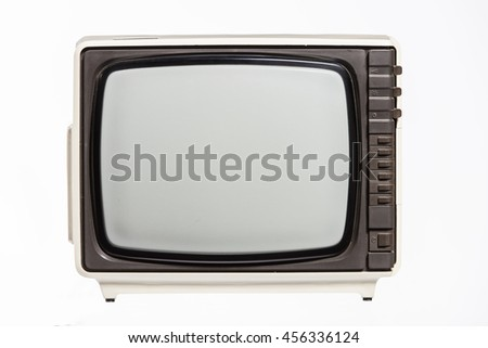 Vintage TV set isolated.