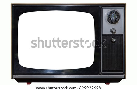 Vintage TV with  Screen Clipping path