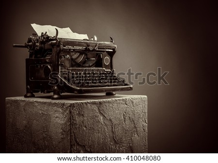 vintage typewriter - stock photo