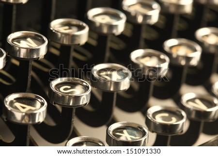 Vintage typewriter keys - stock photo