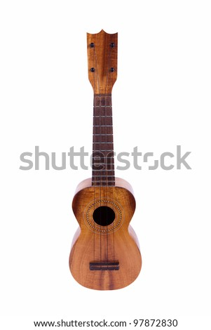 Vintage Ukulele isolated on white - stock photo