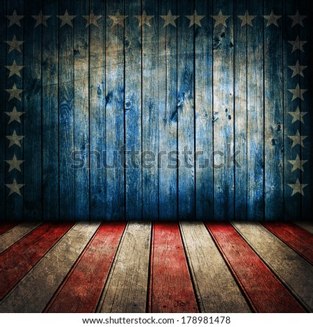 Vintage USA style background - stock photo