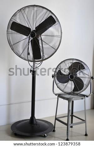 Vintage ventilators isolated on white background - stock photo
