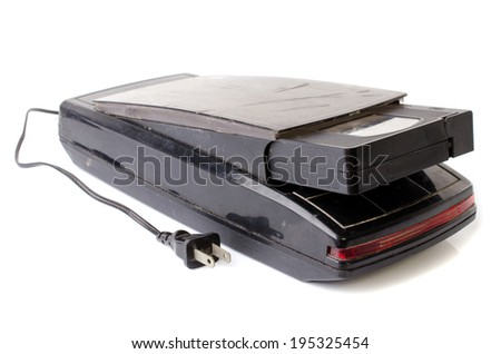 Vintage VHS Rewinder isolate on white background .  - stock photo