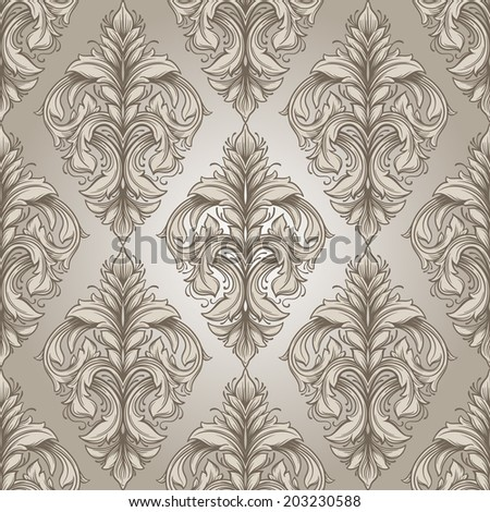 Vintage  victorian seamless pattern. Can be used for banner, invitation, wedding card,  scrapbooking and others. Royal design element.