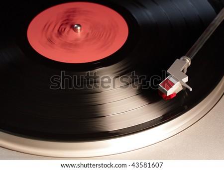 vintage vinyl player - stock photo