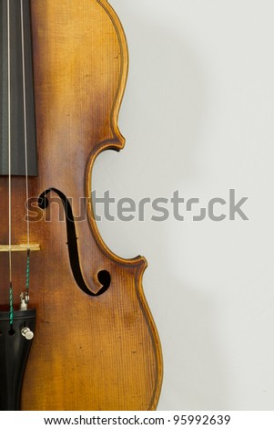 Vintage viola on white background - stock photo