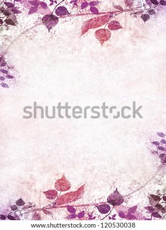 Vintage violet flowers - stock photo