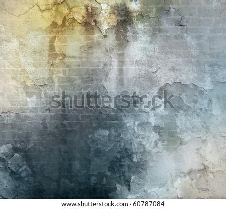 vintage wall; texture - stock photo
