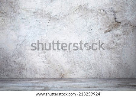 Vintage wall with shadow in industrial building - stock photo
