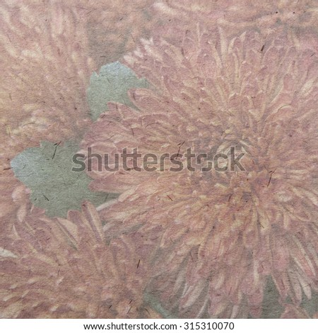 vintage wallpaper background with Colorful dahlia flower - stock photo