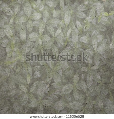 vintage wallpaper background with leaf - stock photo