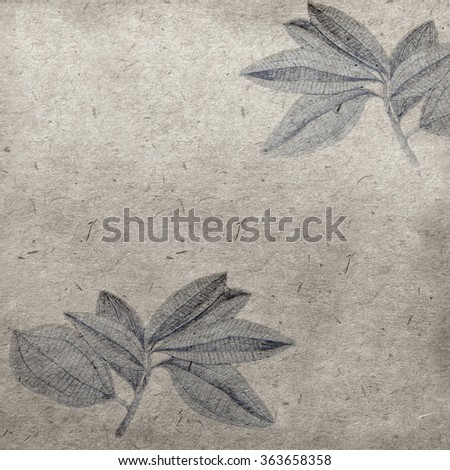 vintage wallpaper background with leafs - stock photo