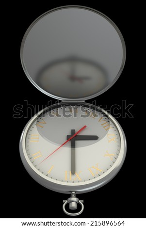 vintage watch. isolated on a black background. 3d - stock photo