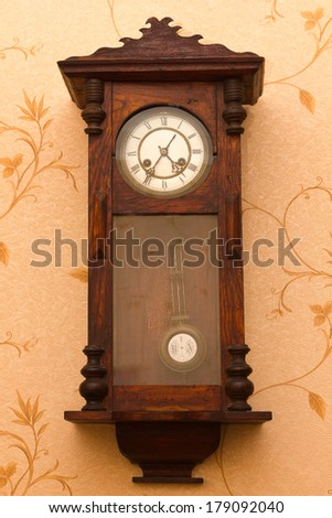 Vintage watches 1898 release. Showing current time - stock photo