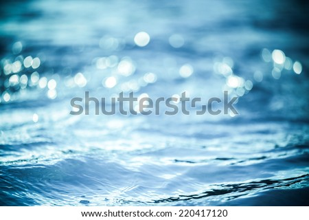 Vintage Water bokeh background - stock photo