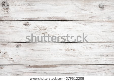 Vintage weathered shabby white painted wood texture as background. - stock photo
