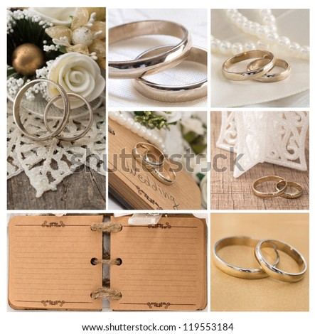 vintage wedding arrangement - stock photo