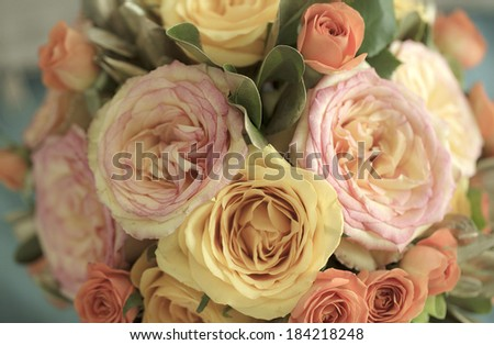 Vintage wedding flowers - stock photo