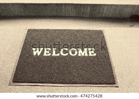 Vintage Welcome carpet