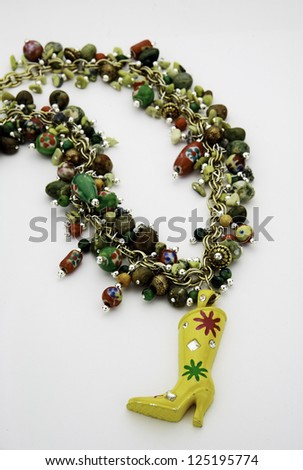 Vintage Western Cowgirl Necklace - stock photo