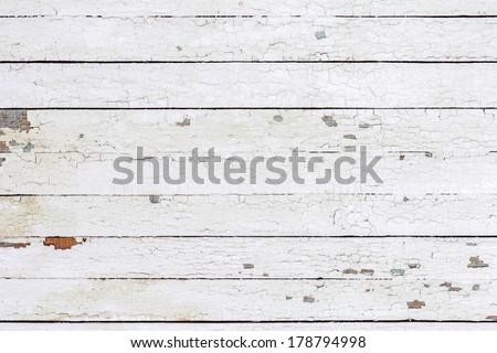 Vintage  white background wood wall - stock photo