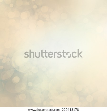 vintage white Christmas lights background. faded bokeh filter effect design. magical glowing bubbles floating in sky. old soft yellowed and cool blue tones. Abstract round circle shapes. - stock photo