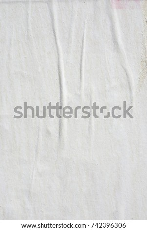 Vintage White Paper Background Blank Creased Crumpled Paper Old Posters  Grunge Textures Backgrounds  Blank Paper Background