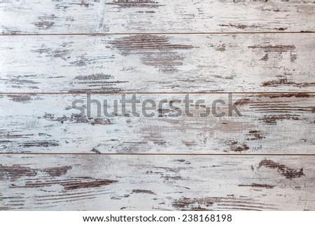 Vintage white wooden background - stock photo