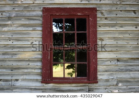 vintage window and wooden wall background