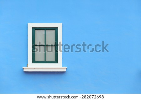 Vintage window with wall background (Venice or Italian style)