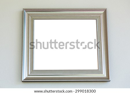 Vintage with frame on wall ( Filtered image processed vintage effect. ) - stock photo
