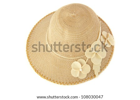 Vintage woman hat isolated on white background