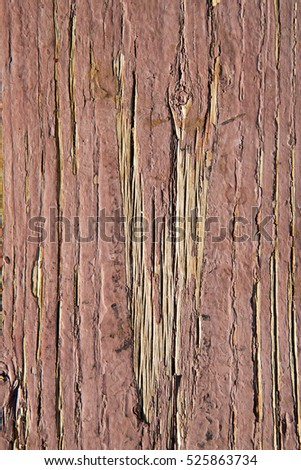 Vintage wood background and texture with red brown peeling paint.
