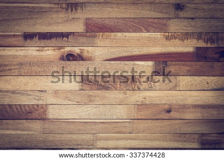 vintage wood background, timber wood wall barn plank texture, image used vignette retro vintage filter - stock photo