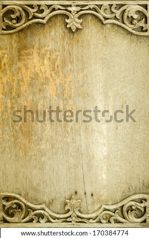 vintage wood board,wood texture background - stock photo