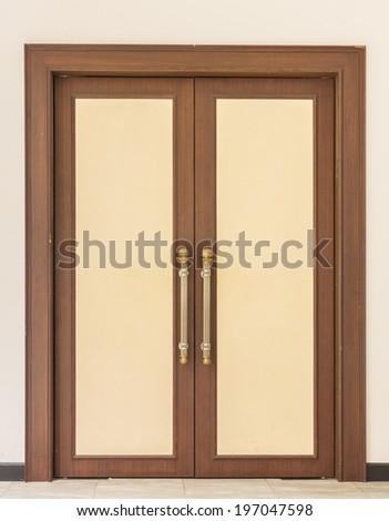 Vintage Wood Door - stock photo