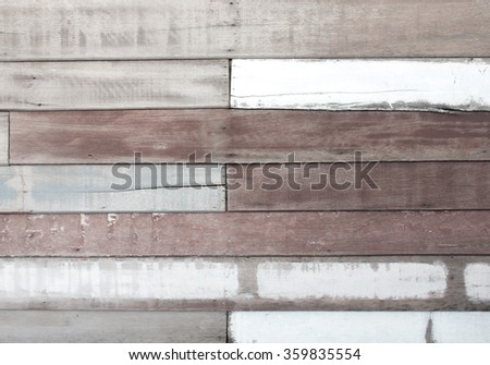 Vintage wood panel old warehouse with room for copy - stock photo