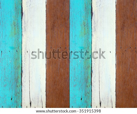 vintage wood plank with knots and nails hole for background and texture design