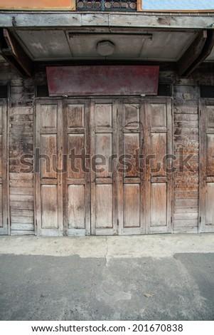 Vintage Wood Store - stock photo