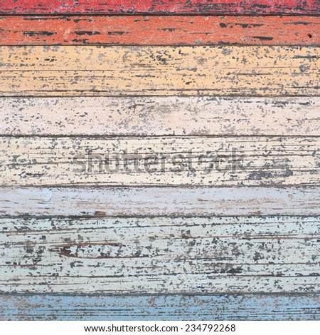 Vintage Wood Wall For text and background - stock photo