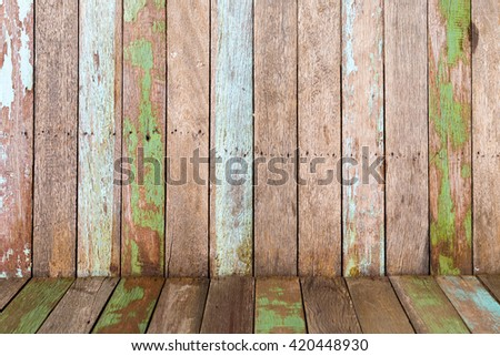 vintage wooden background of floor and wall textures