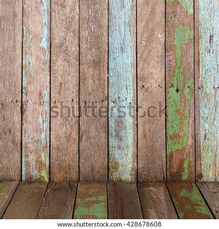 vintage wooden background of floor and wall textures.
