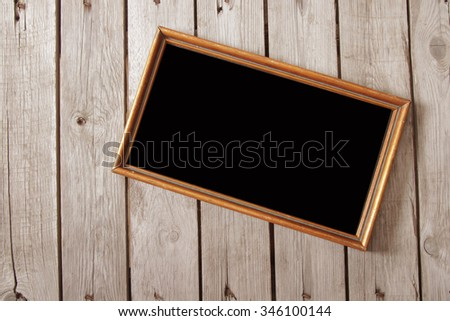 Vintage wooden board for recipes, black  - stock photo