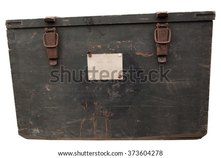 vintage wooden crate  - stock photo
